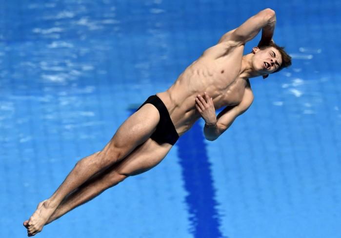 Budapest, 2017. július 20. A brit Ross Haslam a 3 méteres férfi mûugrás döntõjében a 17. vizes világbajnokságon a fõvárosi Duna Arénában 2017. július 20-án. MTI Fotó: Máthé Zoltán