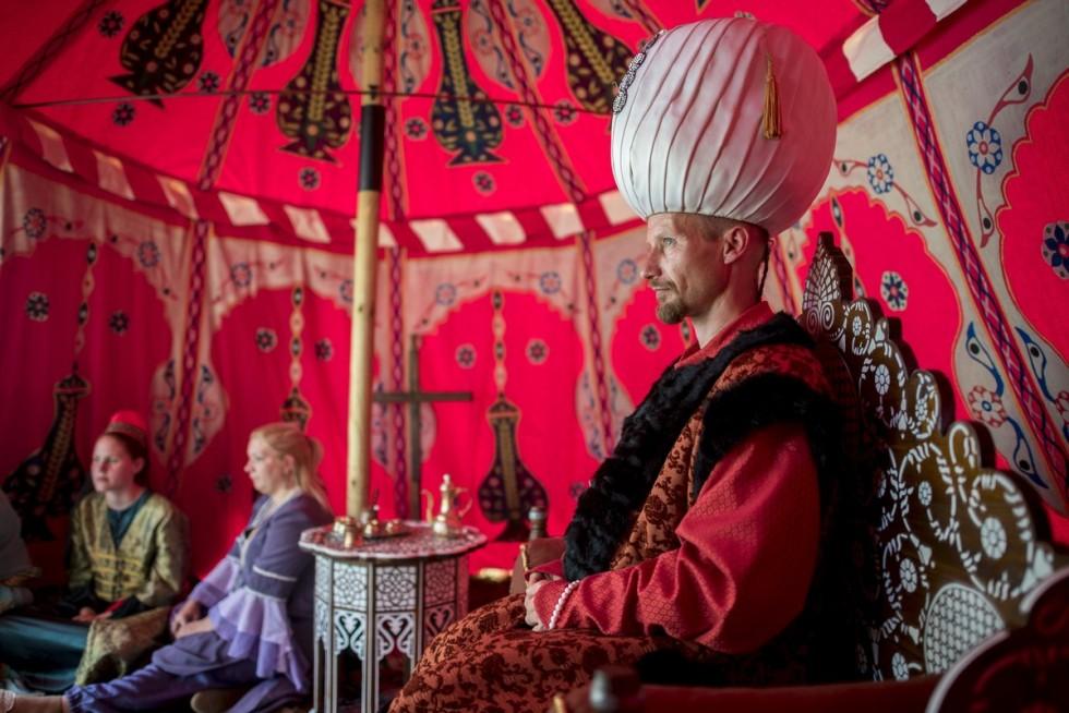 Korhû törökkori szultáni sátor bemutatója Szigetváron