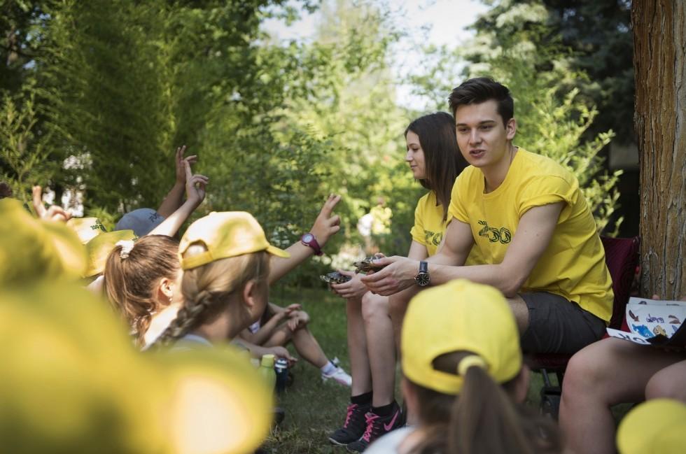 Diákmunkások a Nyíregyházi Állatparkban