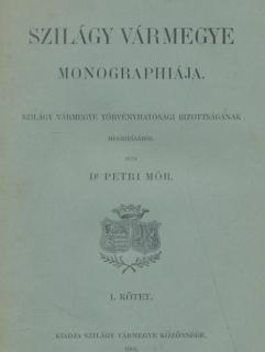 Szilágy vármegye monográfiája I. kötetének belső oldala