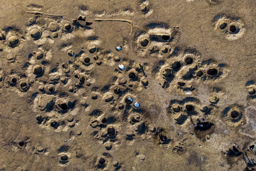 Régészeti feltárás a leendõ BMW-gyár területén